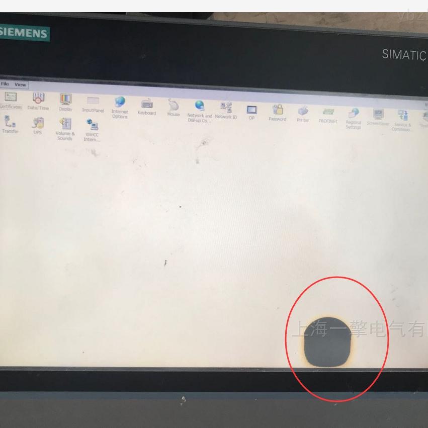 泉州触摸屏TP1200无字符屏幕花屏维修
