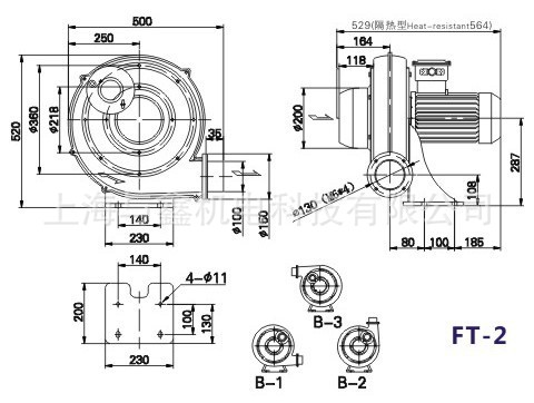 全风 TWYX  FT-2|1.5KW 易燃易爆气体输送防爆风机 风机防爆示例图5