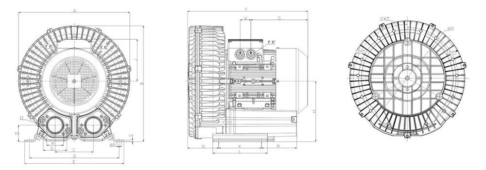 全风Twyx 厂家RB-73D-2 高压增氧吸吹两用高压旋涡鼓风机示例图6