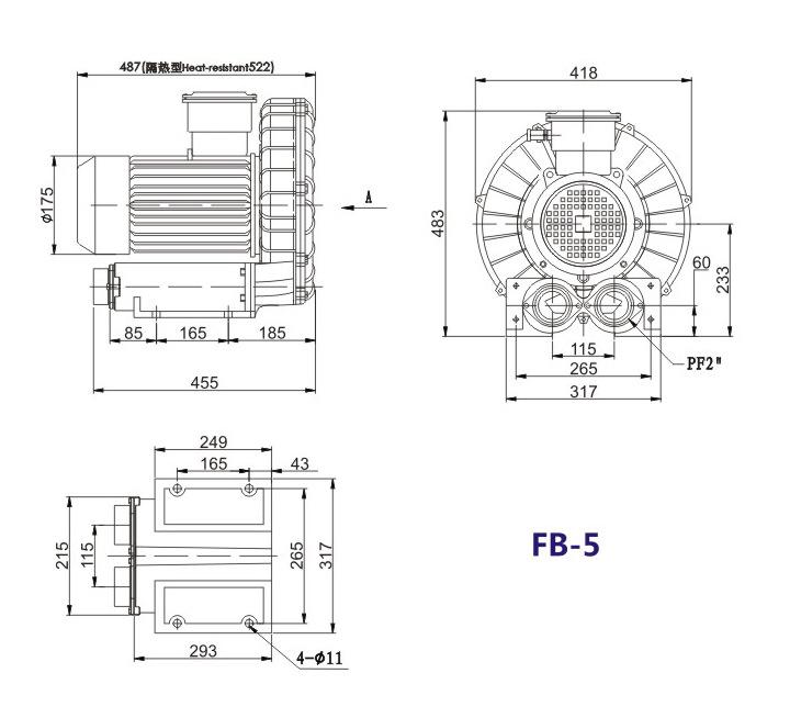 秦皇岛船用防爆高压风机 FB-25船用防爆高压风机 厂家防爆风机示例图16