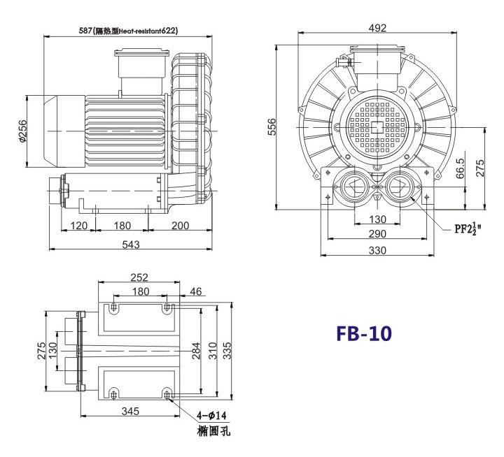 秦皇岛船用防爆高压风机 FB-25船用防爆高压风机 厂家防爆风机示例图18
