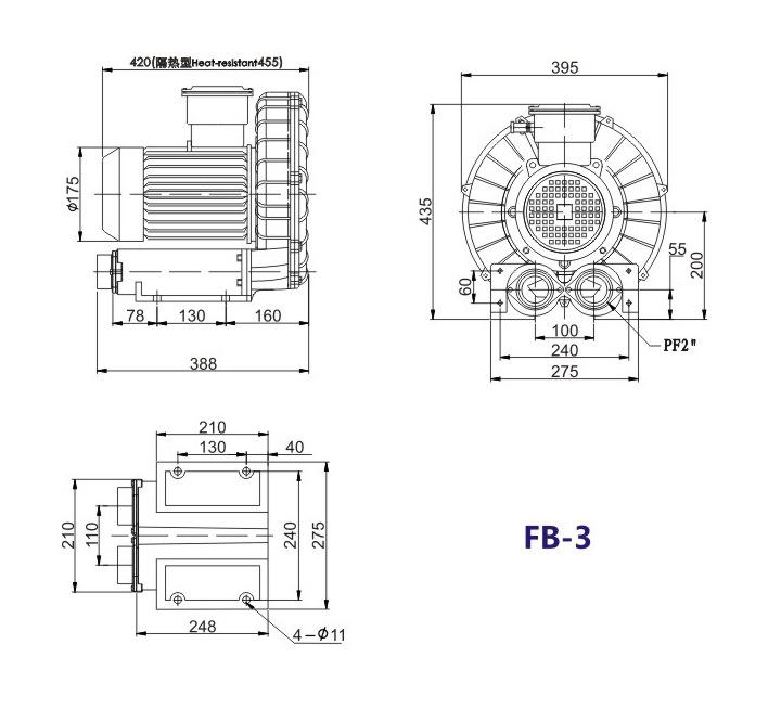秦皇岛船用防爆高压风机 FB-25船用防爆高压风机 厂家防爆风机示例图15