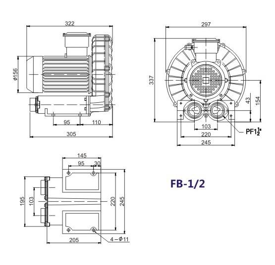 漩涡防爆气泵 漩涡防爆真空泵 旋涡防爆负压气泵 防爆风机 高压防爆示例图4
