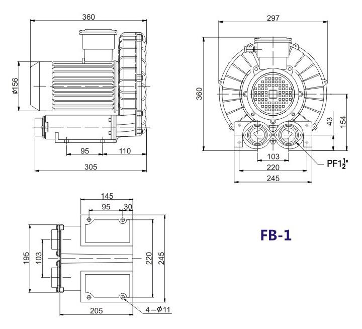 嘉兴变频防爆旋涡风机 FB-15变频防爆旋涡风机 厂家防爆风机示例图13