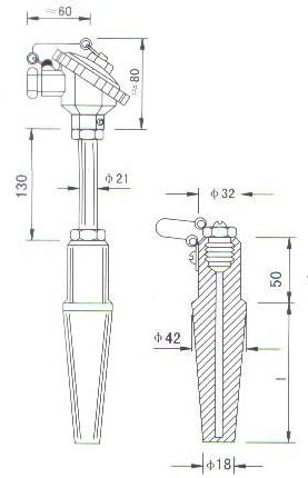 中温中压热电偶(热电阻)产品结构图