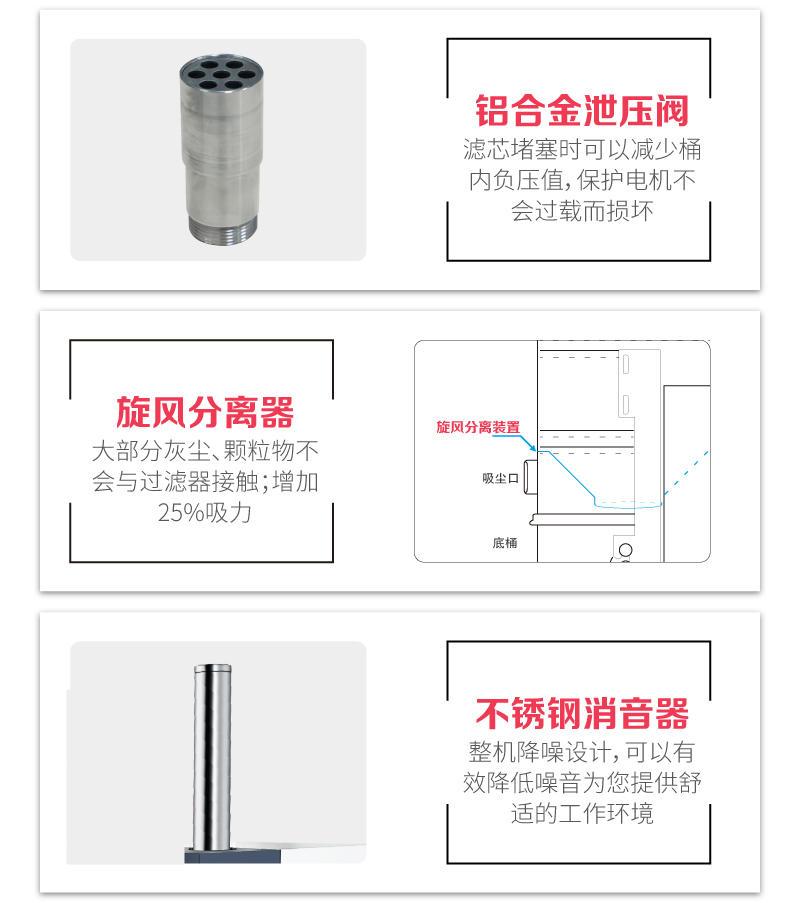 车间移动式吸尘器 清洁设备吸尘器 4KW加工零件粉尘吸尘器示例图18